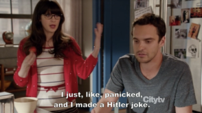 new girl zooey deschanel hitler
